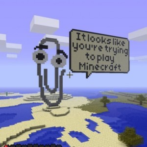 Minecraft paperclip