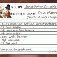 Sweet Potato Casserole recipe card
