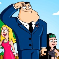 "AMERICAN DAD: From ""Family Guy"" creator Seth MacFarlane comes the animated story of STAN SMITH, who works for the CIA and is constantly on the alert for terrorist activity. Stan will go to extremes to protect his beloved America from harm in the new FOX animated series AMERICAN DAD premiering Sunday, May 1 (9:30-10:00 PM ET/PT) on FOX. L-R: Rodger, Francine, Stan, Klaus, Hayley and Steve. ?©2005 FOX BROADCASTING CR:FOX"