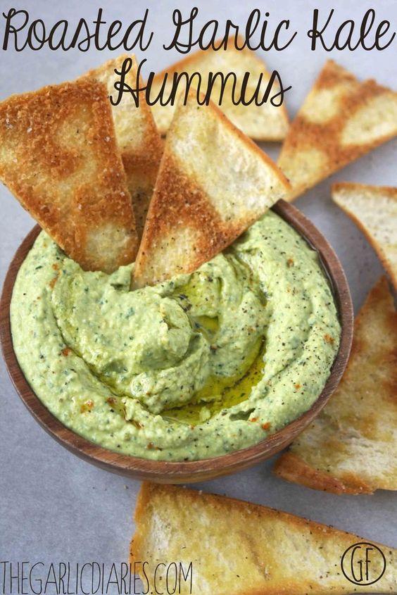 Kale-Hummus