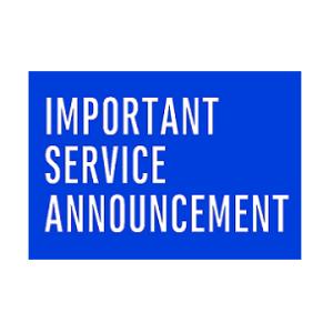 service anouncement