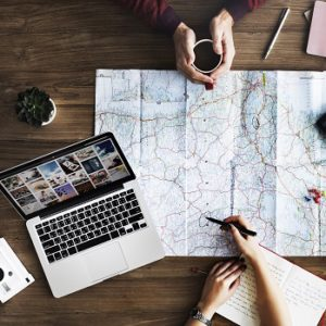Travel Trip Map Direction Exploration Planning Concept