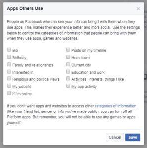 apps and websites facebook