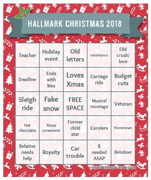 photo relating to Musical Bingo Cards Printable named Hallmark Xmas video clip bingo 2018 TDS Property