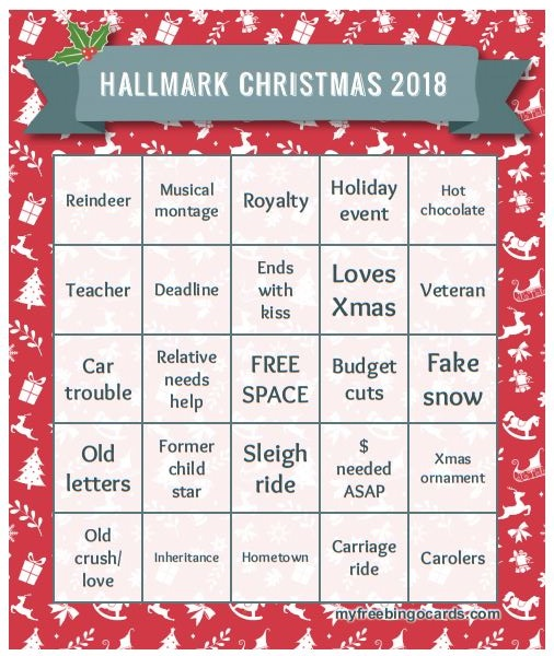 Christmas In July Hallmark Meme.Hallmark Christmas Movie Bingo 2018 Tds Home